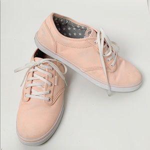 Vans Pink Speckled Low Top Lace Up Skater Sneaker